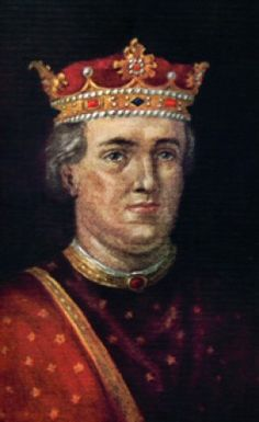 King Henry II of England, our 24th great grandfather.  Our 29th great grandfather, Bishop John de Pagham from our Page line, took part in his coronation.