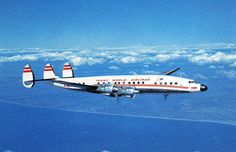 """Lockheed Constellation """"Connie"""": one of the pioneers of civilian aeronautics.  Completed several records for transcontental flight and was the plane that Orvile Wright made his last flight on in 1944."""