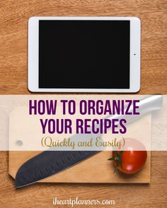 How to Organize Your Recipes Quickly and Easily - This digital method to organizing your recipes will have your recipes in order in no time. Did you know you can use Evernote to organize your recipes? Easily organize your current recipes and add new ones Evernote, Recipe Organization, Storage Organization, Spring Cleaning, Getting Organized, Food Hacks, Good To Know, Cleaning Hacks, Helpful Hints