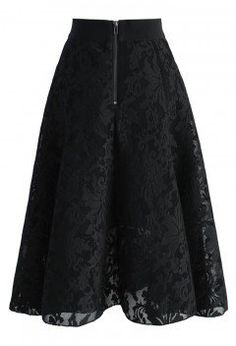 Twirl in a Floral Black Mesh Skirt - Bottoms - Retro, Indie and Unique Fashion