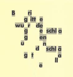 Gerhard Rühm: gesammelte werke – 2.1 visuelle poesie - planet lyrik @ planetlyrik.de Gerhard Rühm, Poetry, Concrete, Lyric Poetry, Group, Poems, Poem