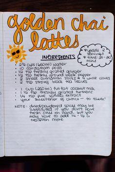 Golden Chai Lattes