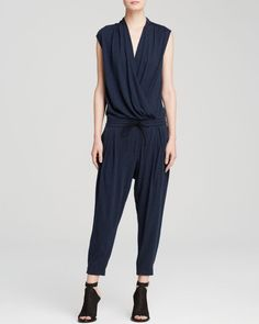 Helmut Lang Jumpsuit - Feather Jersey Wrap