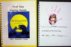 Cute idea for a Kissing hand class book! Preschool Craft Activities, Preschool Literacy, Teaching Kindergarten, Book Activities, Primary Teaching, Teaching Tools, 1st Day Of School, Beginning Of The School Year, School Fun