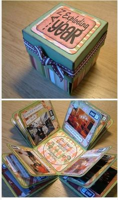 Diy crafts for boyfriend creative exploding boxes 42 trendy Ideas Cute Crafts, Crafts To Do, Arts And Crafts, Craft Gifts, Diy Gifts, Handmade Gifts, Mini Albums, Small Photo Albums, Diy Projects To Try