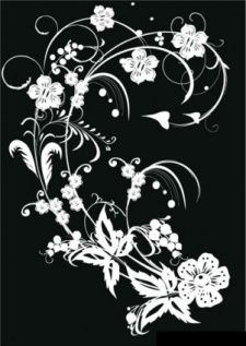 free vector Black & White Flower Decorationgraphic available for free download at 4vector.com. Check out our collection of more than 180k free vector graphics for your designs. #design #freebies #vector