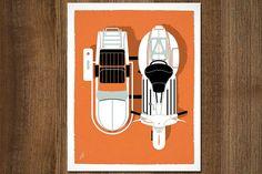Vintage Vespa Prints by jeremyslagle, via Flickr