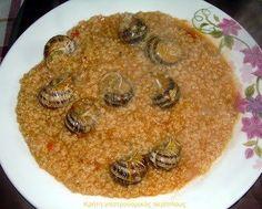 Χοχλιοί με χόντρο (στάρι) ή ρύζι – Κρήτη: Γαστρονομικός Περίπλους