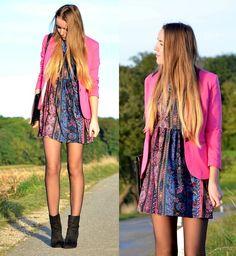 Choies Dress, H&M Blazer