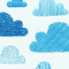 Clouds Embroidery Sampler Kit. I just love a fluffy cloud! ⛅                                                                                                                                                                                 More