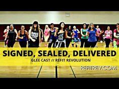 """Signed Sealed Delivered"" || Glee Cast || Dance Fitness Choreography || REFIT® Revolution - YouTube"