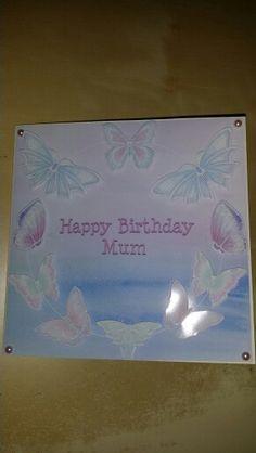 Happy birthday mum  Made using serif