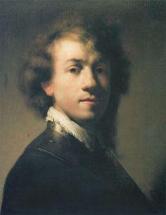 Portrait of Rembrandt with Gorget (1629). Rembrandt van Rijn.