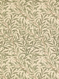 Willow Boughs by William Morris. The Original Morris & Co - Arts and crafts, fabrics and wallpaper designs by William Morris & Company William Morris Tapet, William Morris Wallpaper, Morris Wallpapers, Print Wallpaper, Fabric Wallpaper, Pattern Wallpaper, Wallpaper Designs, Scandi Wallpaper, Hall Wallpaper