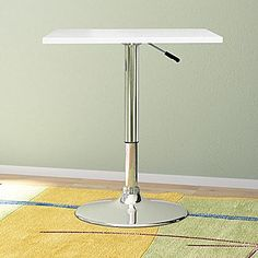 CorLiving Adjustable Pub Table; White