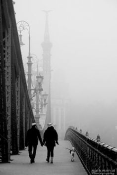A collection of beautiful and inspiring black and white images of Budapest, brought to you by Márk Mervai Photography. Budapest Winter, Black N White Images, Black And White, Liberty Bridge, Budapest Hungary, Brooklyn Bridge, Light In The Dark, Mists, Louvre