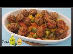 Chiftele la cuptor cu garnitura - fara pic de ulei si fara ou - YouTube Sprouts, Vegetables, Cooking, Youtube, Food, Cook, Recipes, Cuisine, Kitchen