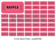 template for raffle tickets with numbers