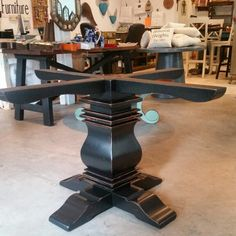 #Farmhouse #Table #Base De Barrio Antiguo In #HoustonTexas (713)880