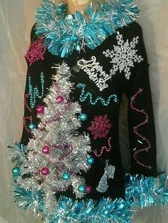 74 Ugly Christmas Sweater Ideas So You Can Be Gaudy and Festive Getting ready for your themed Christmas party? Then you need to look at our selection of ugly Christmas sweater ideas to make you really stand out. Couple Christmas, Tacky Christmas Party, Diy Ugly Christmas Sweater, Christmas Outfits, Xmas Sweaters, Ugly Sweaters Diy, Diy Christmas, Christmas Clothes, Christmas Costumes