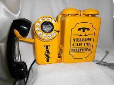 Yellow Cab TAXI Call Box Telephone Phone Automatic Western Electric Old Vintage