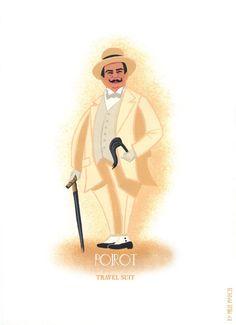 Affiche Poster Hercule Poirot Agatha Christie en par MelleMarcel