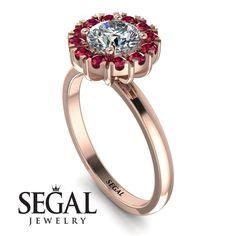 Vintage Halo Ruby Engagement Ring - Presley No. Eternity Ring Diamond, Diamond Wedding Rings, Lotus Engagement Ring, Engagement Gifts, Indian Wedding Rings, Antique Diamond Rings, Diamond Anniversary Rings, Proposal Ring, Band