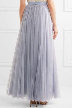 Needle & Thread - Tulle Maxi Skirt - Light blue - UK12