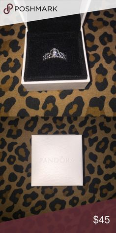 Pandora My Princess Ring Brand new and never worn size 8. It's just a little too big for me Pandora Jewelry Rings