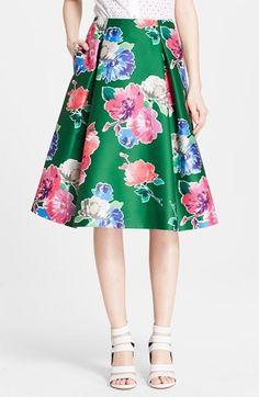 Kate Spade 'lorella' Floral Print A-Line Skirt on shopstyle.com