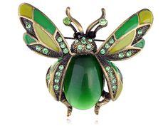 Insectes Scarabée Ruby Cristal Broches Bouquet antique élégant Bijoux Broche PINS