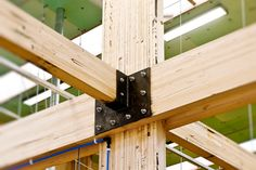 WoodSolutions Case Study: The ASFF is a showcase for the effectiveness of timber structures; its expressed timber portal frame is both simple and robust.