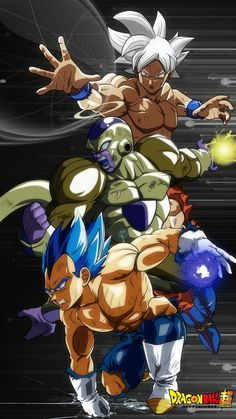 Vegueta Super Saiyajin Blue Evolution, Golden Freezer y Goku Migatte No Gokui Perfect