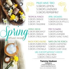 Bring the happy scents of Spring into your home with these essential oil diffuser recipes and blends. Purchase a Young Living Premium Starter Kit & $25.00 Rebate offer!