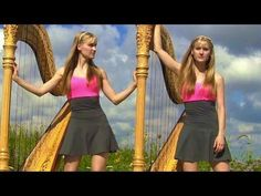 Enya - Only Time (Harp Twins) Camille and Kennerly, Harp Duet - YouTube