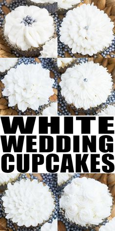 WHITE WEDDING CUPCAK