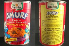 food When I was a kid we used to eat this canned chef boyardee pasta called UFOs. The internet has no image of it so hears some smurf pasta instead. 30 Discontinued Foods We Sort Of Miss Retro Recipes, Vintage Recipes, Vintage Food, Retro Food, Retro Ads, Vintage Tv, 1980s Food, Discontinued Food, Kids Pasta