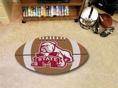 "Mississippi State Football Rug 20.5""x32.5"""