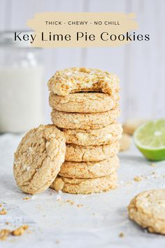 The best key lime pie cookie recipe. Thick, chewy, and loaded with graham cracker crumbs and white chocolate chips. Cookie Pie, Cookie Bars, Graham Cracker Crumbs, Graham Crackers, Cookie Recipes, Dessert Recipes, Desserts, Key Lime Cookies, Best Key Lime Pie