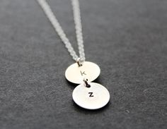 Stacked Sterling Silver Disc Necklace by ChicMamaDesigns on Etsy