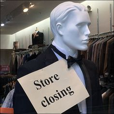 Don't drop your style standards just because you are closing a store. Make it a formal, Black Tie affair and… Black Tie Formal, Store Closing, Affair, Closer, Going Out, Retail, Drop, Formal Dresses, Style
