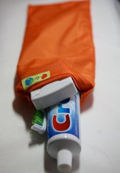 Toothbrush and Toothpaste zip carry bag by LoveForEarth on Etsy https://www.etsy.com/listing/73611444/toothbrush-and-toothpaste-zip-carry-bag