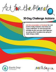 #EarthDay 2013 30 Day Challenge and Activities for Classrooms & Kids
