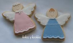 Estas galletitas tambien se pueden dar en bautizos o cuando nace el bebe.                                            Para d... Fondant, Sugar, Cookies, Desserts, Angel, Food, Christmas Biscuits, Baptisms, First Holy Communion