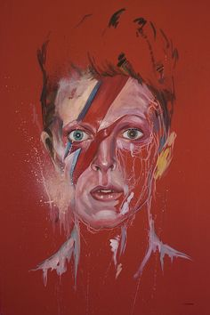 Portrait of Bowie by Marcello Castellani #davidbowie #art #painting