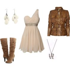Love dress, with jacket and boots!