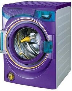 Purple washing machine!