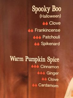 Fall scents - Spooky Boo & Warm Pumpkin Spice