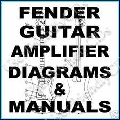 800+ FENDER Guitar Amps Amplifier Diagrams WIRING SCHEMATICS Parts