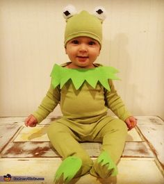 Kristen: I made this costume for my 10 month old son to wear. I saw a Kermit the Frog costume online and thought it was a cute idea, but figured I...